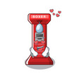 in love boxing game machine in character vector image vector image