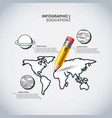 infographic education presentation icons vector image