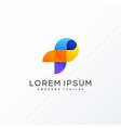 letter p design concept template vector image