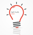 light bulb icon with rays vector image vector image