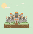 magical fabulous cartoon castle flat vector image vector image