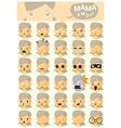 Mama emoji icons vector image vector image