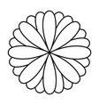 monochrome oval petals forming flower vector image vector image