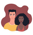 multi racial mixed race couple happy people love vector image vector image