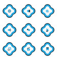 multimedia icons colored set with setting film vector image