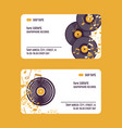 musical accessories set of business cards vector image vector image