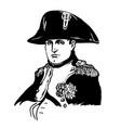 napoleon bonaparte vector image