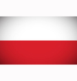 National flag of Poland vector image vector image