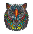 ornamental wolf vector image