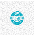 Pet shop seamless pattern and label