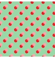 Polka dot red double seamless pattern vector image vector image