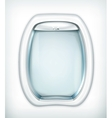 Porthole transparent glass vector image vector image