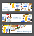 portugal banners portuguese national traditional vector image vector image