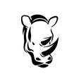 Rhinoceros head tattoo vector image vector image