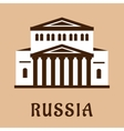 Russian Grand Theater flat icon vector image