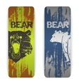 set bear banners vector image vector image