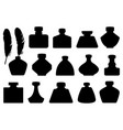 set of different inkwells vector image