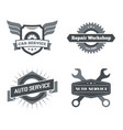 set of logotypes for mechanic garage car repair vector image