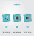 set of studio icons flat style symbols with vinyl vector image