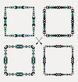 set with abstract geometric ethnic frames tribal vector image vector image