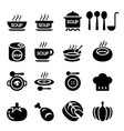 soup icon vector image vector image