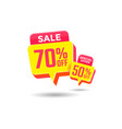 special offer sale label discount offer tag vector image
