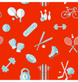 sports seamless pattern sports equipment vector image