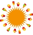 sun of ice creams at summer time vector image vector image