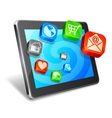 Tablet and media icons vector image