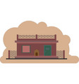 the prison building protected object vector image