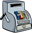 till or cash register cartoon clip art vector image vector image