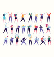 various gesture employee team stand together vector image vector image