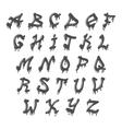 Grunge full alphabet vector image