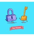 cartoon Protection security lock and key vector image