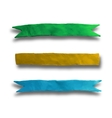 Set of banners ribbons vector image