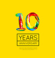 10th anniversary congratulation for company or vector image vector image