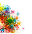 abstract background colorful splashes backdrop vector image vector image