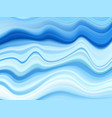 abstract wave acrylic background blue wavy vector image vector image