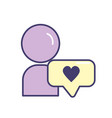 avatar man social user with chat bubble vector image vector image
