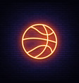 basketball neon icon design element vector image