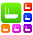 bathroom set color collection vector image vector image