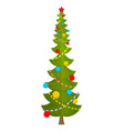 big christmas tree huge spruce large fir new year vector image vector image