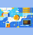 blockchain and bitcoin mining technologies vector image