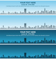 boston skyline event banner vector image