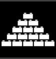 building block white color icon vector image vector image