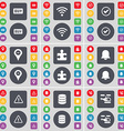 Buy Wi-Fi Tick Checkpoint Puzzle part Notification vector image