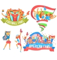Cheering Happy Crowds Of National Sport Team Fans vector image vector image