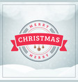 christmas greeting card vintage christmas vector image vector image