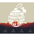 Christmas infographic with sample data vector image vector image