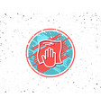 cleaning cloth line icon wipe with a rag vector image vector image